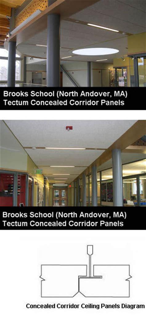 tectum concealed corridor ceiling panels tectum span concealed corridor panels tectum inc