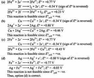 Ncert Exemplar Problems Class 11 Chemistry Chapter 8 Redox Reactions