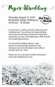 august on top of the world info With document shredding ocala fl