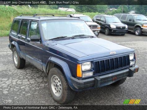 blue grey jeep cherokee dark blue pearl 1996 jeep cherokee sport 4wd gray