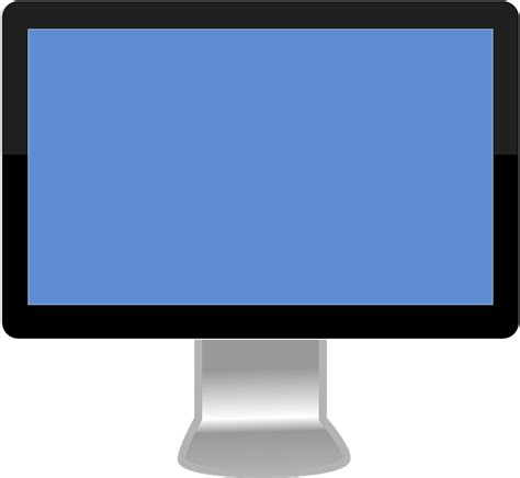 monitor flatscreen widescreen  vector graphic  pixabay