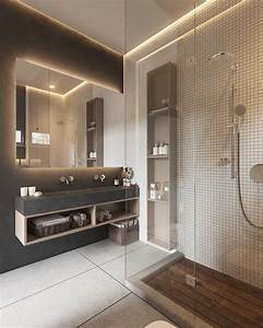 minimalist muted colour home with scandinavian influences With carrelage adhesif salle de bain avec lit moderne avec led