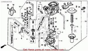 Honda Cmx250cd Rebel 250 Ltd 1986 Usa Carburetor