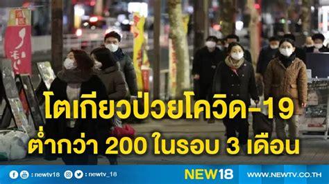 โตเกียวป่วยโควิด-19 เพิ่มต่ำกว่า 200 ครั้งแรกในรอบ 3 เดือน