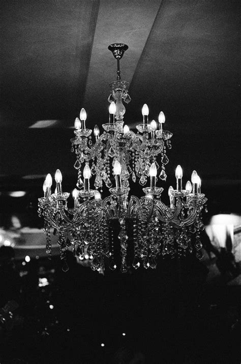 beautiful black and white candles chandelier lights