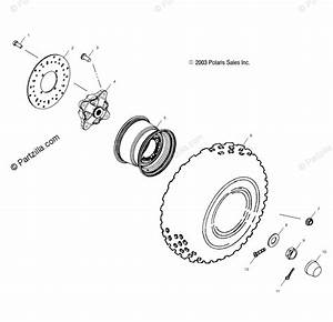 Polaris Atv 2004 Oem Parts Diagram For Front Wheel