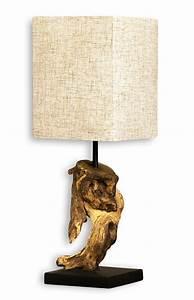 Lampe Aus Holz : lampe tischlampe aus holz holzlampe tischleuchte treibholz 45cm beige levandeo ~ Eleganceandgraceweddings.com Haus und Dekorationen