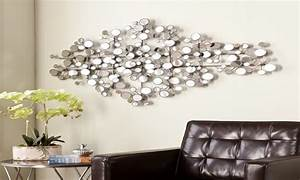 large silver mirrors for walls mirror wall art olivia With mirrored wall art
