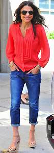 Bethenny Frankel steps out in bright red shirt while cradling daughter Bryn | Blouses Shirts ...