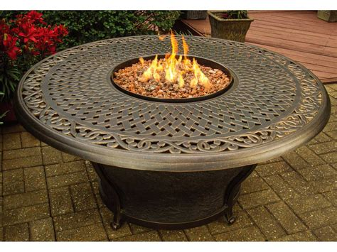 round gas fire table oakland living aluminum charleston 48 round gas firepit