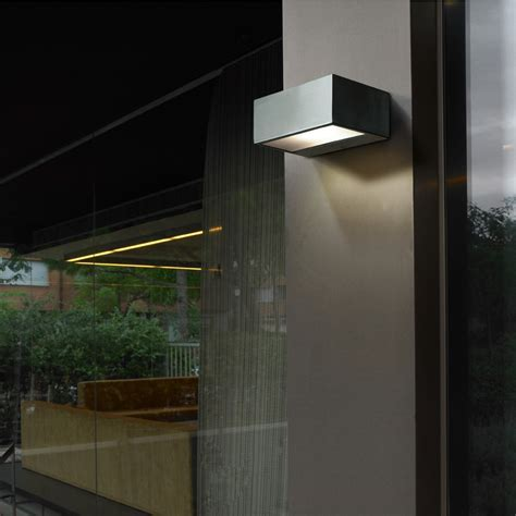 Leds C4 Outdoor Nemesis Urban Grey Wall Light   Eames Lighting