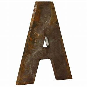 industrial rustic metal large letter a 36 inch kathy kuo With metal letter a