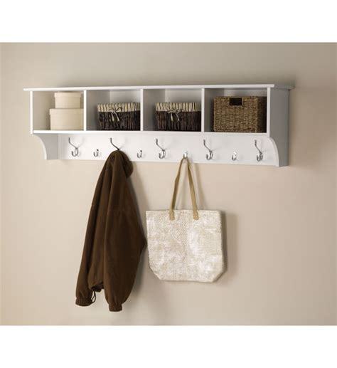 coat hooks with shelf 60 inch hanging shelf with coat hooks in wall coat racks