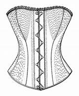 Corset Drawing Template Steampunk Sketch Character Build Own Templates sketch template