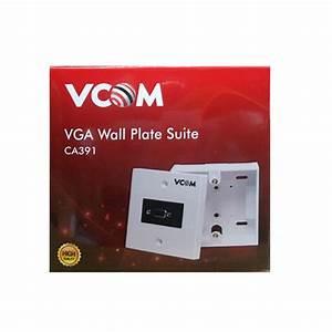 Vcom Vga Wall Plate  U0026 Outbow Terminal Box