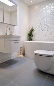 salle de bain gris et blanc choosewellco With salle de bain mosaique grise