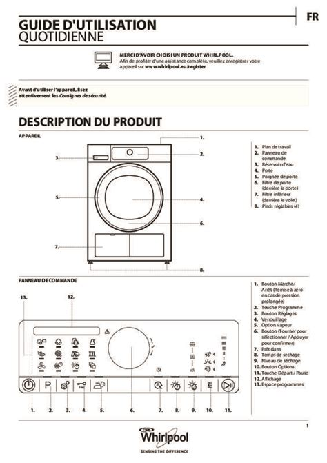 mode d emploi s 232 che linge whirlpool hscx80531 trouver une solution 224 un probl 232 me whirlpool