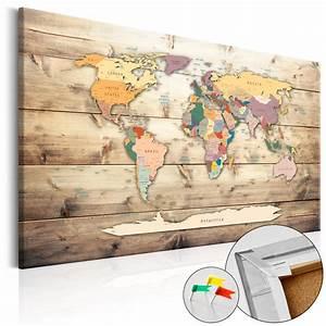 Pinnwand Weltkarte Kork : pinnwand weltkarte wandbilder landkarte leinwand bilder xxl kork k b 0009 p b ebay ~ Markanthonyermac.com Haus und Dekorationen