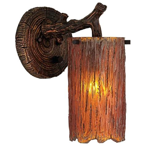rustic wall mounted plug in light oregonuforeview