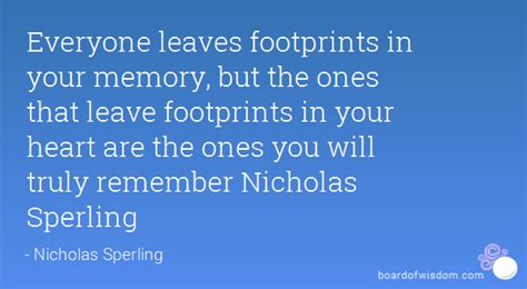 leaves footprints   memory