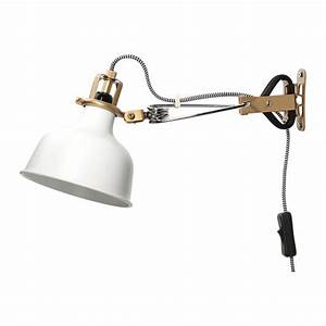 Ikea ranarp wall clamp lamp off white decorative light for Ranarp white floor lamp