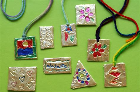 foil pendants fun family crafts