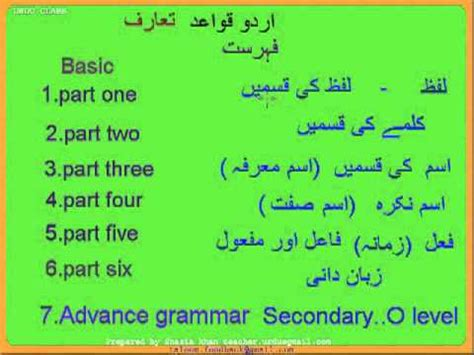 Urdu Grammar Course Introduction Youtube