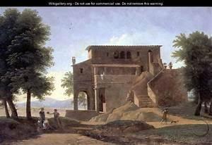 An Italian Villa with Figures - Jean-Victor Bertin ...