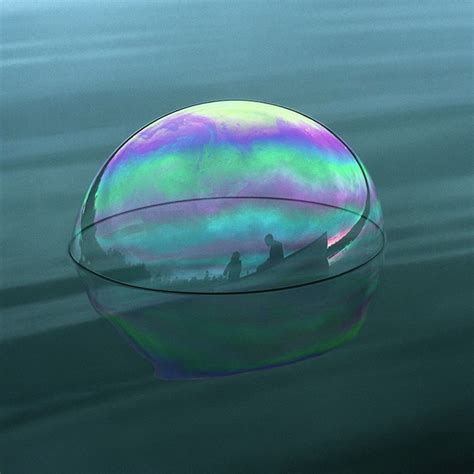 Soap Bubbles Silhouette