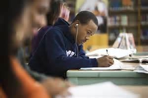 People Listening to Music While Studying