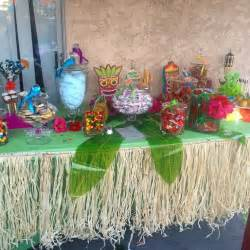 graduation table centerpieces luau candy table candy buffet hawaiian candy buffet