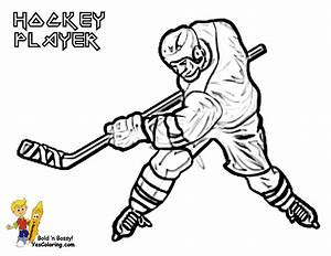 hockey color pages - hockey player coloring pages