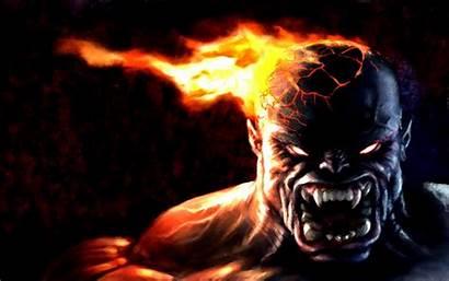 Monster Wallpapers Beast Backgrounds Fantasy Fire Dark