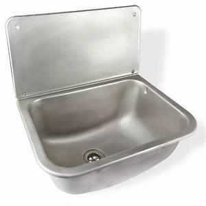 Waschbecken Für Küche : edelstahl ausgussbecken anita waschbecken mit spritzschutz ~ Lizthompson.info Haus und Dekorationen