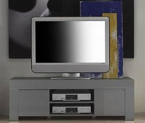 Meuble Gris Laqué : meuble tv amalfi blanc ~ Nature-et-papiers.com Idées de Décoration