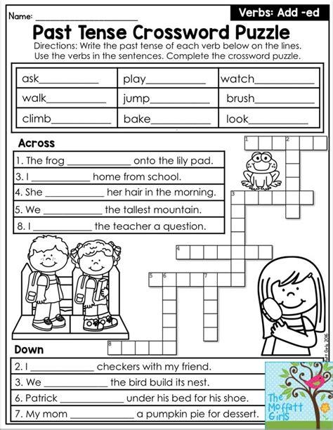 Past Tense Crossword Puzzle  Such A Fun Grammar Activity To Practice Verb Tense… Grammar