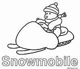 Coloring Ski Doo Snowmobile Drawing Snowmobiles Cat Skidoo Arctic Getdrawings Coloringhome sketch template