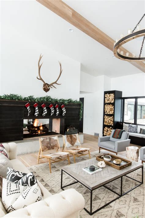 holiday home   modern mountain home interior