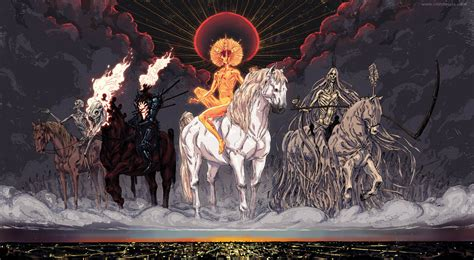 horsemen apocalypse four could help horses imgur famine thoughts certain resemblance notice biblical