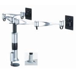 dual monitor desk mount dual swing arm dm d1a2