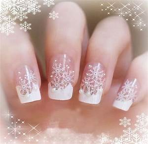 White Snowflake Nails s and for