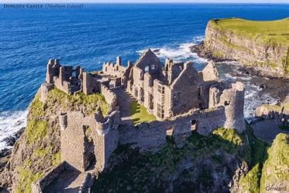 Castle Dunluce Ruin Ireland Northern Castles Coastal