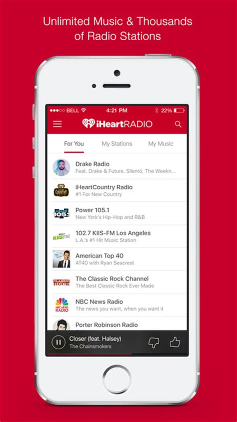 iheartradio android iheartradio free radio stations on the app