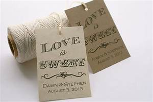 printable love is sweet tags personalized wedding favor tags With how to print tags for favors