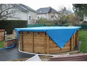 Bache Protection Piscine : b che piscine pvc 700g m 4x11m ignifug e bleue et beige ~ Edinachiropracticcenter.com Idées de Décoration