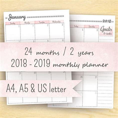 printable planner calendar planner inserts year calendar