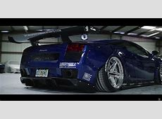 Brilliant Blue Lamborghini Gallardo LB With Twin Turbo By