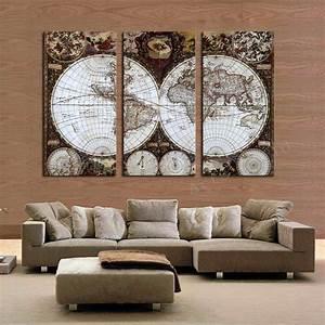 Carte Du Monde Deco : cadre peinture murale bricolage maison et d coration ~ Teatrodelosmanantiales.com Idées de Décoration