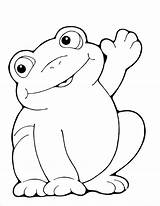 Frog Coloring Pages Baby Cartoon Printable Getcoloringpages Clip sketch template