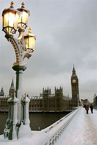London England Snow Storm